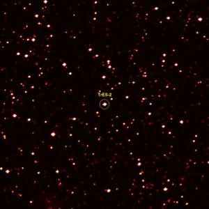 Hvězda TrES-2 na fotografii z družice Kepler.