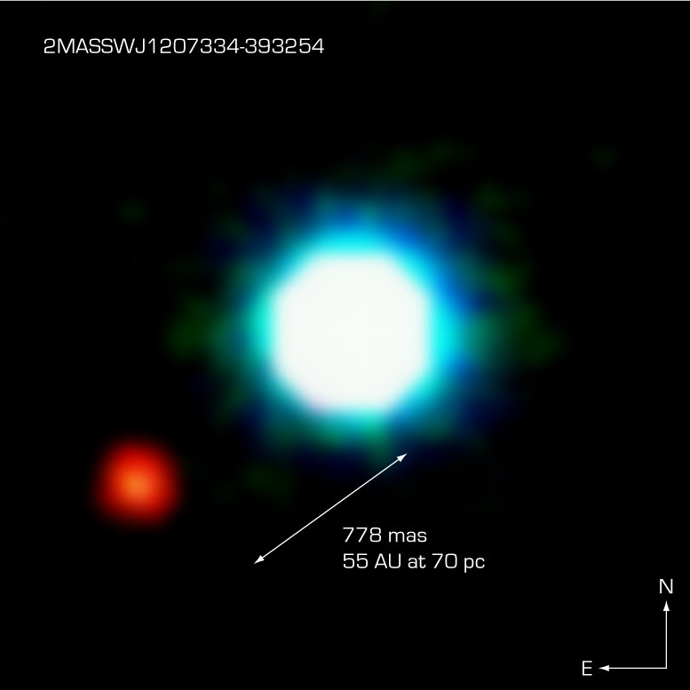 Exoplaneta 2M1207b u hnědého trpaslíka