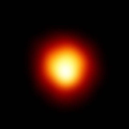 Betelgeuse na snímku z Hubblova dalekohledu