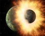 Srážka planet v představách malíře