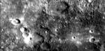 Detailní pohled na část Merkuru.