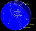 Oběžná dráha fragmentu číslo 33006 ze satelitu KOSMOS 2421