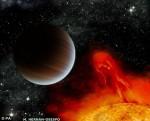 Exoplaneta u mladé hvězdy.