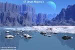Povrch případného měsíce exoplanety 47 UMa b v představách malíře. Autor: Christoph Kulmann