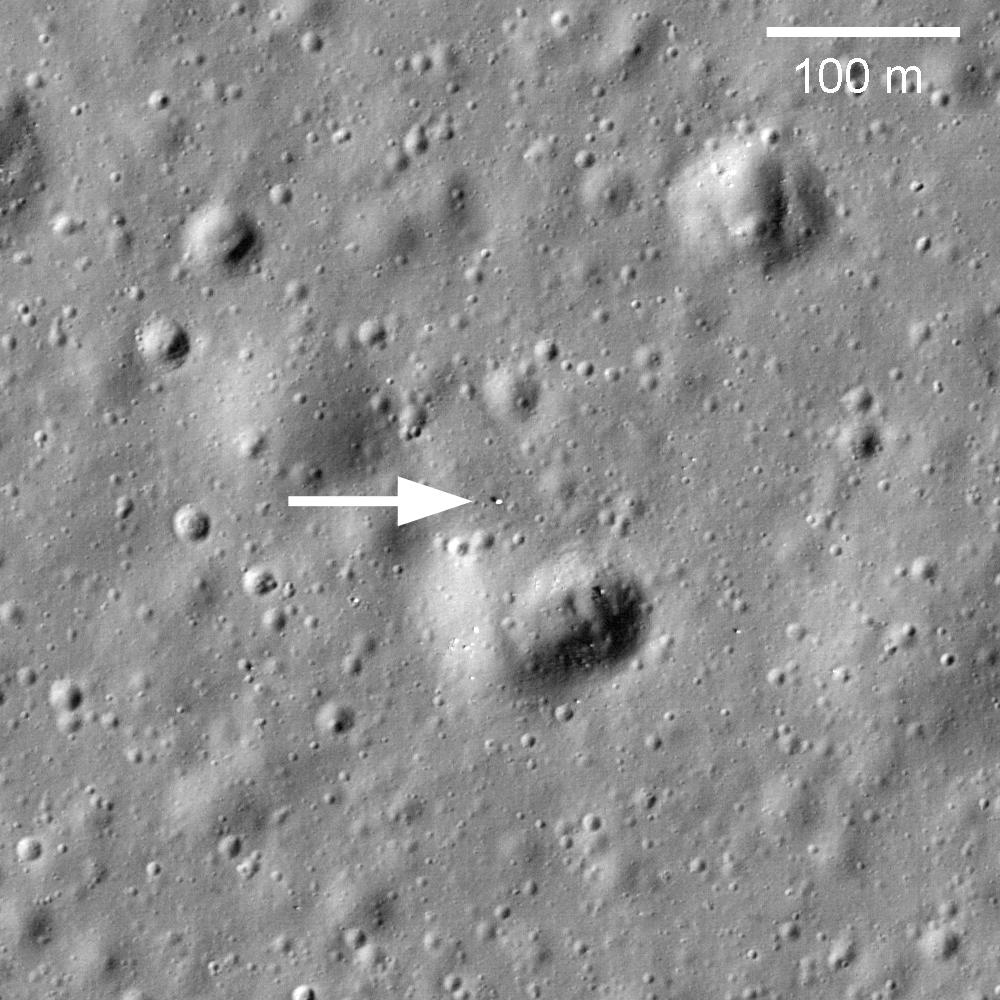 Lunochod 1 na snímku ze sondy LRO. Autor: NASA