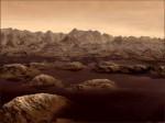Povrch Titanu v představách malíře. Autor: Karl Kofoed