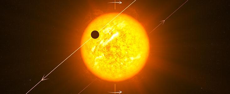 Tranzit exoplanety v představách malíře. Autor: ESO