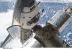Atlantis naposled u Mezinárodní kosmické stanice. Autor: NASA