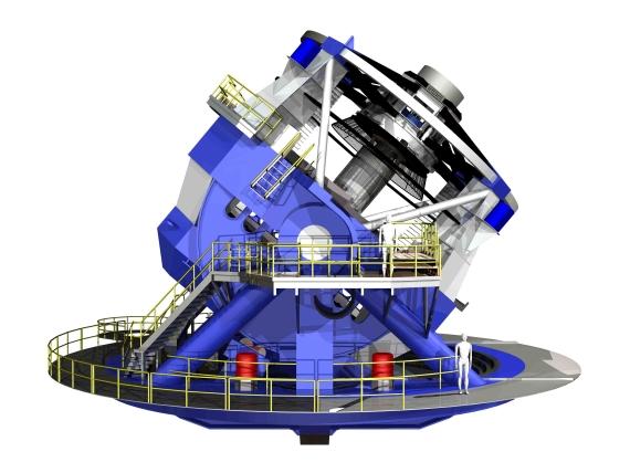 Dalekohled LSST. Credit: LSST Corporation