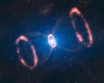 Na fotografii z dalekohledu VLT je pozůstatek po výbuchu supernovy SN 1987 A. Credit: ESO