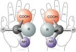 Chirální molekuly. Credit: NASA
