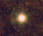 Hvězda CW Leonis. Credit: ESA/PACS/SPIRE/MESS Consortia