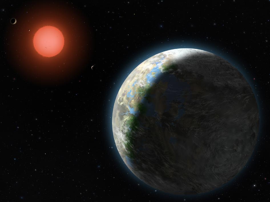 Exoplaneta Gliese 581 g v představách malíře