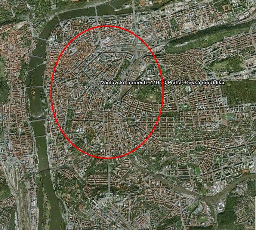 Přibližná pozice vzniklého kráteru. Credit: Google Earth