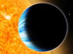 Exoplaneta Qatar-1b v představách malíře.