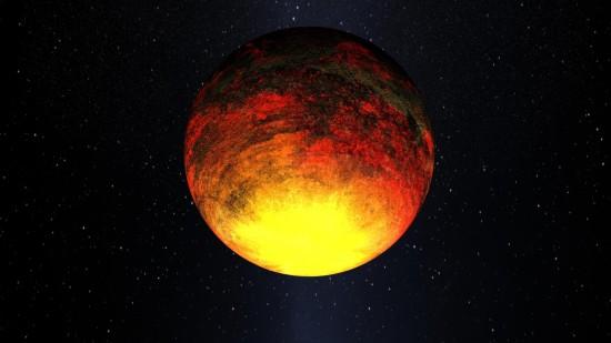 Kepler-10 b v představách malíře. Credit: NASA