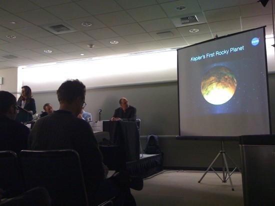 NASA oznamuje v Seattlu objev exoplanety Kepler-10 b. Credit: Pavel Machálek