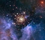 Hvězdokupa NGC 3603 na snímku z Hubblova dalekohledu. Credit: NASA/ESA