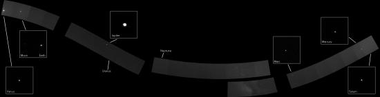 Rodinné foto planet Sluneční soustavy ze sondy Messenger.