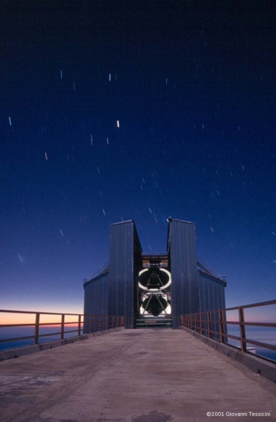Dalekohled TNG na Kanárských ostrovech. Autor: Giovanni Tessicini