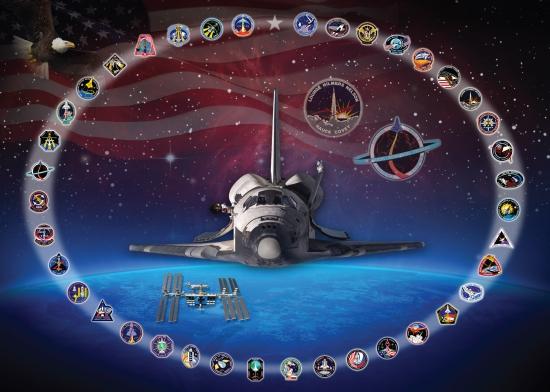 Loga všech misí, které Discovery absolvoval.