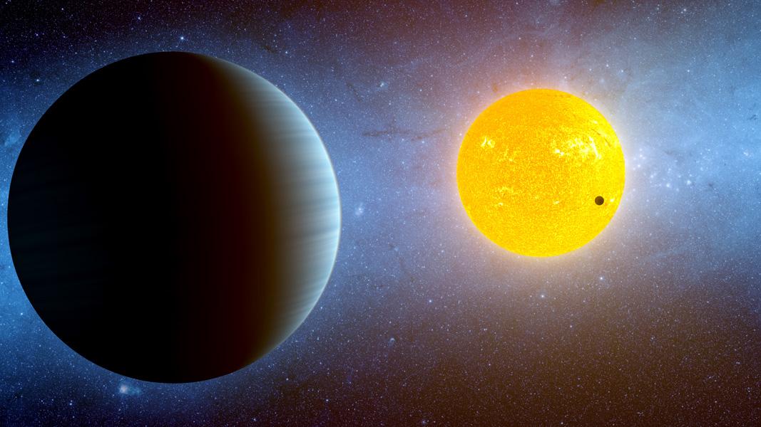 Exoplaneta Kepler-10 c v představách malíře. Credit: NASA