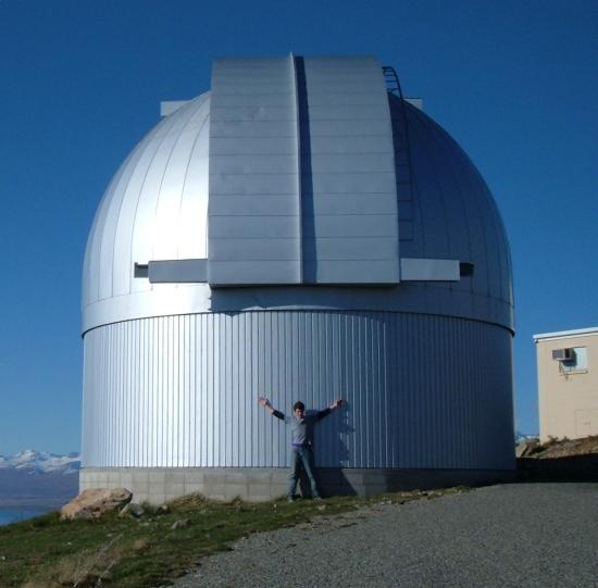 Dalekohled MOA na Novém Zélandu. Zdroj: Wikipedia