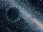 Bludná planeta bez mateřské hvězdy v představách malíře. Credit: JPL, NASA