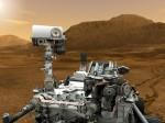 Curiosity na Marsu v představách malíře. Credit: NASA, JPL