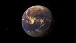 Exoplaneta HD 4308 b v představách malíře. Zdroj: Wikipedia