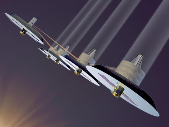 Interferometr dalekohledu TPF zůstane pouze na obrázku. Credit: NASA