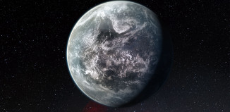Exoplaneta HD 85512 b v představách malíře. Credit: ESO/M. Kornmesser