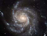 Galaxie M101 na snímku z Hubblova dalekohledu. Credit: NASA
