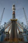 Historicky první start rakety Sojuz z evropského kosmodromu. Credit: ESA - S. Corvaja, 2011