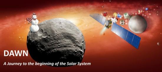 Veselé Vánoce od planetky Vesta a sondy Dawn. Credit: NASA