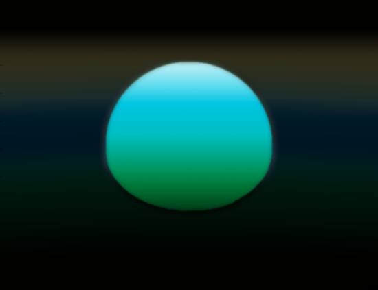 Západ Slunce na exoplanetě HD 209458 b (kresba). Autor: Frederic Pont, University of Exeter