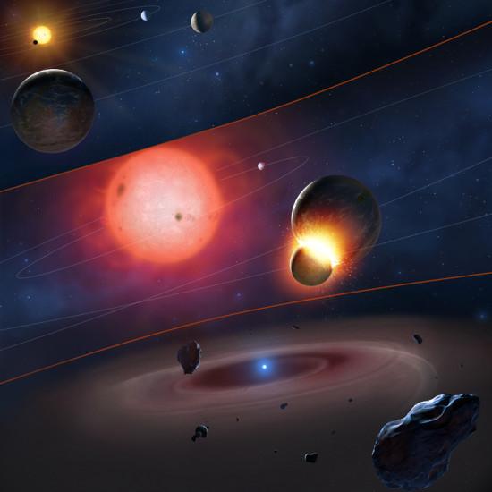 Tři fáze konce planet zemského typu. Credit: Mark A. Garlick / space-art.co.uk / University of Warwick