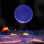 """Kepler-36 c při pohledu z planety """"b"""". Credit: Harvard-Smithsonian Center for Astrophysics/David Aguilar"""