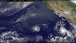 Tropické bouře a hurikány na snímku z družice GOES-15. Credit: NASA