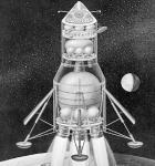 Možná konfigurace pro přímo vzlétající loď Apollo. Zdroj: NASA