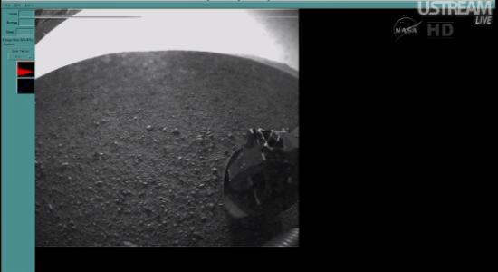Nová fotka z Curiosity. Credit: NASA