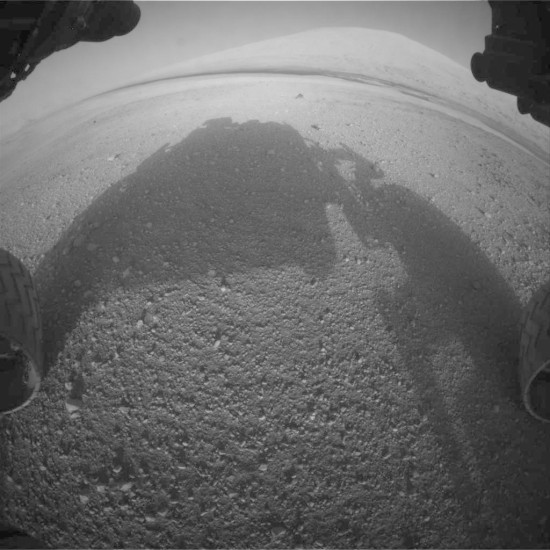Aeolis Mons z Curiosity. Credit: NASA