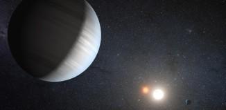Systém Kepler-47 v představách malíře. Credit: NASA/JPL-Caltech/T. Pyle