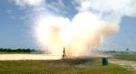 Výbuch přistávacího modulu Morpheus. Credit: NASA
