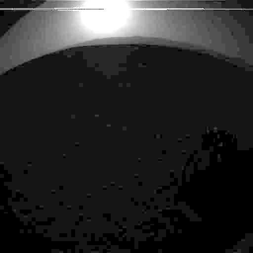 Západ Slunce z Curiosity. Zdroj: NASA / JPL / Emily Lakdawalla