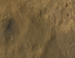 Místo přistání sondy Curiosity na Marsu ze sondy MRO. Credit: NASA