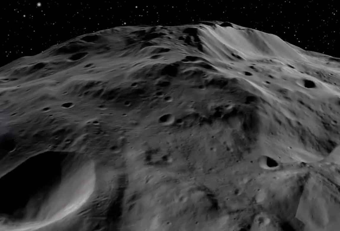 Planetka Vesta. Credit: NASA