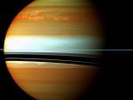 Projevy bouře v atmosféře Saturnu. Credit: NASA, ESA