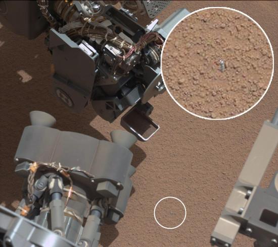 Podivný objekt na Marsu. Credit: NASA, universetoday.com