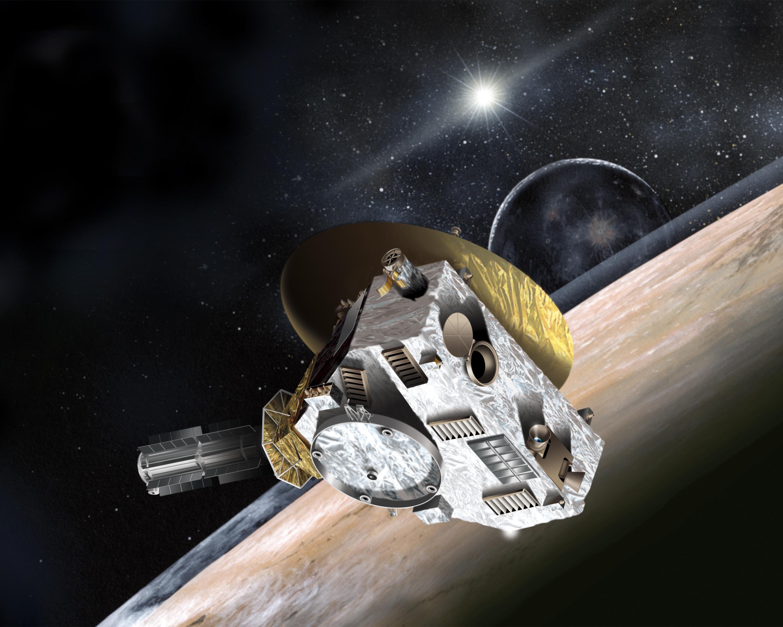 Sonda New Horizons v představách malíře. Credit: JHUAPL/SwRI
